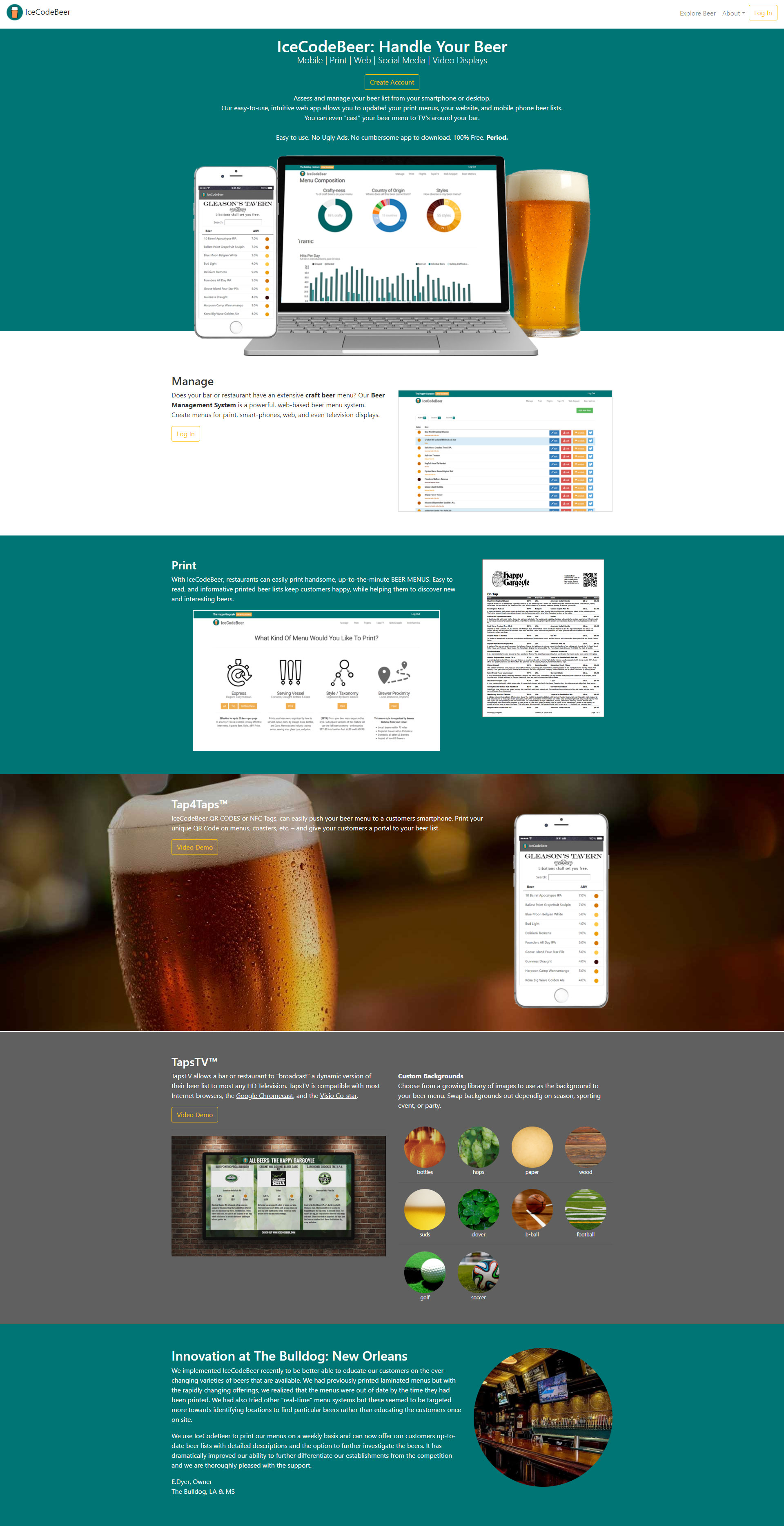 IceCodeBeer Website